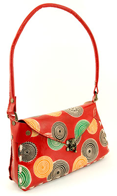 Chapati Shoulder Bag - Kaleidoscopic Circles