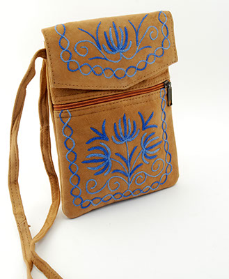 Essentials Bag - Brown and Blue